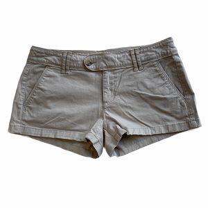 Arizona Women Khaki Flat Front Chino Shorts Size 7